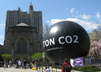 One Ton of Carbon on display on Cross Campus