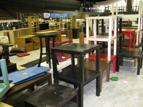 Coffee tables, formerly forsaken by exiting students and collected through Yale's Spring Salvage Program, will be resold to students through the Yale College Council's Trash to Treasure Initiative, to be launched at the end of this school year.