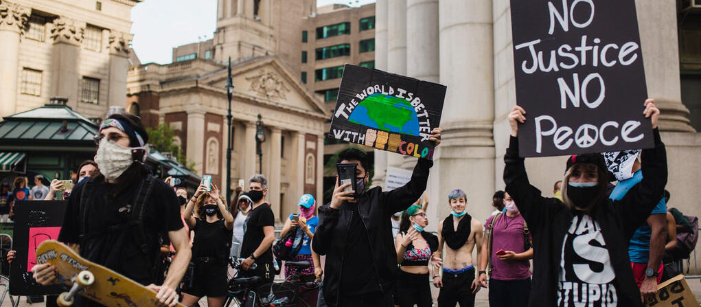 people marching for environmental justice