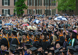 Yale students at commencement ceremonies