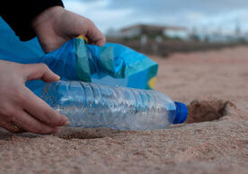 bottle picked up on shore