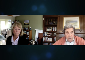 John Kerry speaking via Zoom