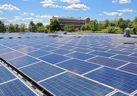 Yale's solar array at West Campus has 4,400 panels, covering nearly two acres of rooftop.
